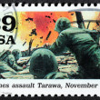 Battle of Tarawa Siamp — Stock Photo