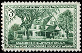 Sagamore Hill Stamp — Stock Photo