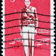 Amelia Earhart Stamp — Stock Photo
