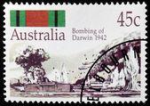 Darwin 1942 Stamp — Stock Photo
