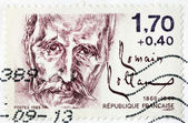 Romain Rolland Stamp — Stock Photo