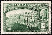 Jamaica World War I Stamp — Stock Photo