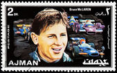 Bruce McLaren Stamp — Stock Photo
