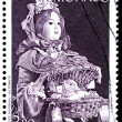 Vintage Doll Stamp — Stock Photo
