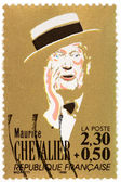 Maurice Chevalier Stamp — Stock Photo
