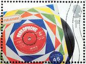 Beatles Vinyl Stamp — Stock Photo