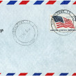 Airmail Cover from USA — Stock Photo