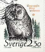 Ural Owl Stamp — Stock Photo