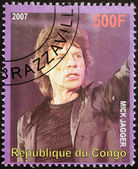 Mick Jagger Stamp — Stock Photo