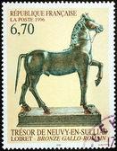 Bronze Statue Stamp — Stock Photo