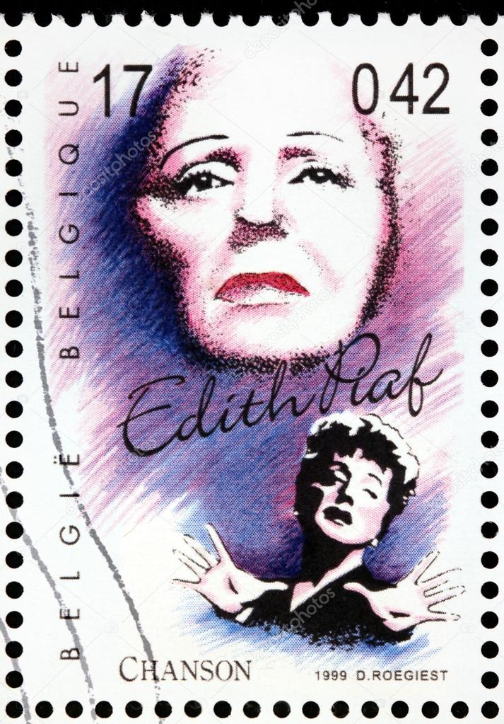 Edith Piaf Singing French Singer Edith Piaf