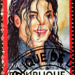 Michael Jackson Stamp — Stock Photo