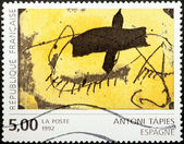 Antoni Tapies Stamp — Stock Photo