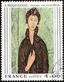 Modigliani Stamp — Stock Photo