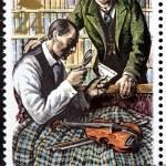 Постер, плакат: Sherlock Holmes Stamp 1