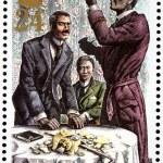 Постер, плакат: Sherlock Holmes Stamp 3