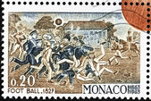 Football 1827 Stamp — Stock Photo