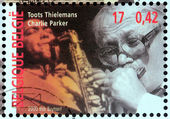 Charlie Parker and Toots Thielemans — Stock Photo
