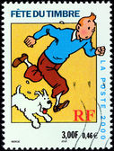 Tintin Stamp — Stock Photo