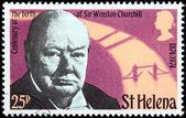 Churchill Stamp — Stock Photo