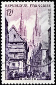 Quimper Stamp — Stock Photo