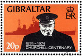 Churchill Stamp — Stock Photo