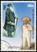 Mark Twain and Leo Tolstoy — 图库照片