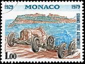 Monaco Grand Prix Stamp — Stock Photo
