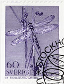 Dragonfly Stamp — Stock Photo