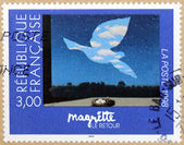 Rene Magritte Stamp — Stock Photo