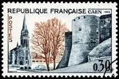 Caen Stamp — Stock Photo