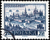 Kolobrzeg Stamp — Stock Photo