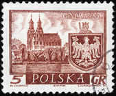 Gniezno Stamp — Stock Photo