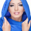 Stock Photo: Womwearing shawl