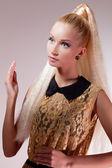 Girl looking like Barbie doll — Stock Photo