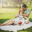 Постер, плакат: Couple on picnic
