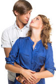 Young couple looking at each other — Stock Photo