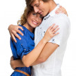Young couple hugging each other — Stock Photo
