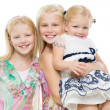 Portrait of three sisters — Stock Photo