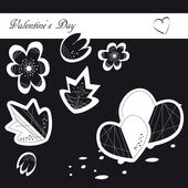 Valentine's day 12 — Vector de stock
