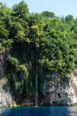 Waterfall falling into Aegean Sea — Stock Photo