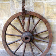 Wheel with Iron Chain - Stock Photo
