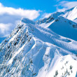 Winter mountain peaks — Stock Photo