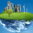 Green City Earth — Stock Photo
