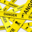 Danger Caution Tape — Foto Stock