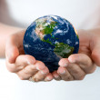 Earth on Hand — Stock Photo