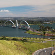 JK Bridge in Brasilia Brazil — Stock Photo