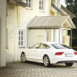 White Car Audi A6 Allroad — Stock Photo