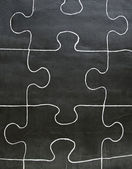 Painted puzzle pieces — Stock Photo