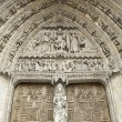 Gothic church door — Stockfoto